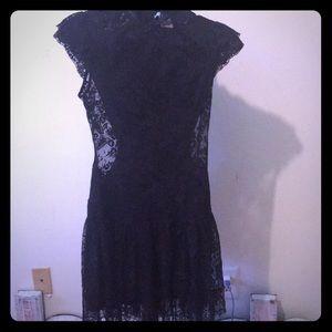 Marciano Black Lace Dress Size Small